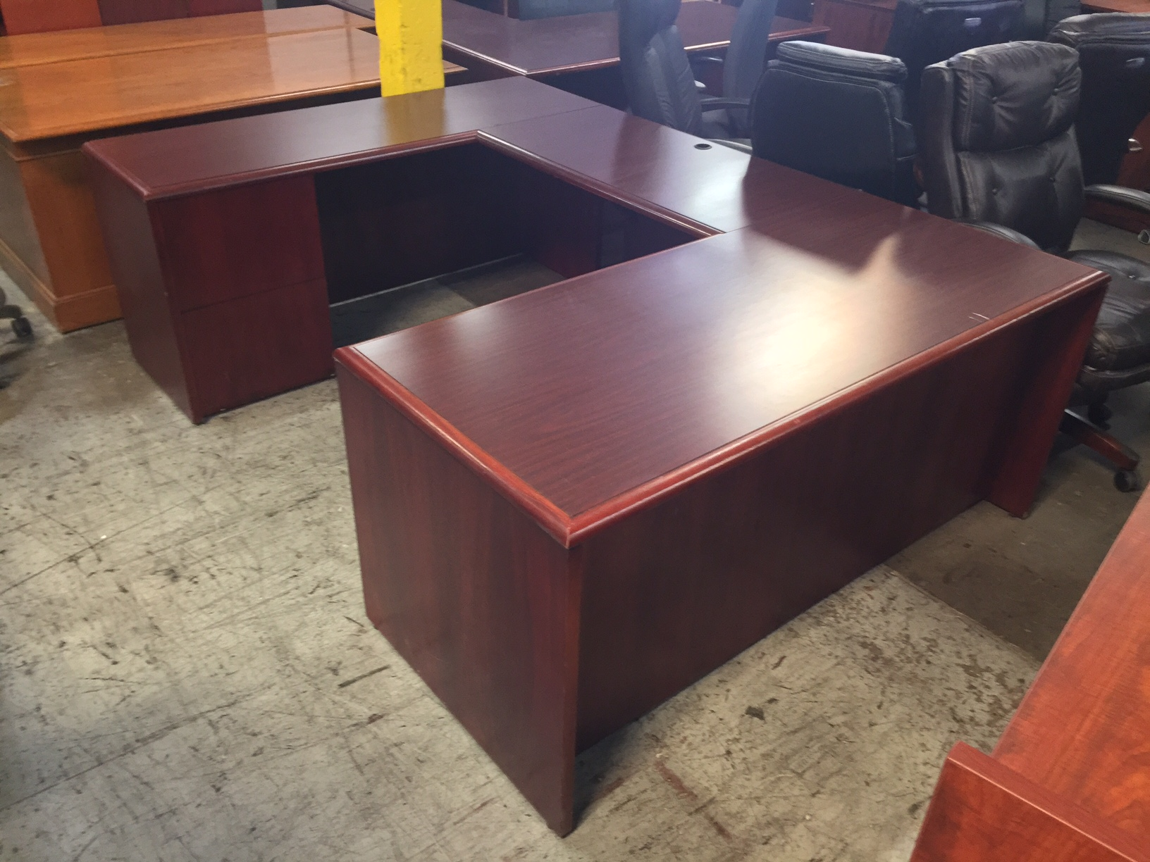 Mahogany U Shape Desk 8497 New And Used Office Furniture In Los Angeles And Orange County