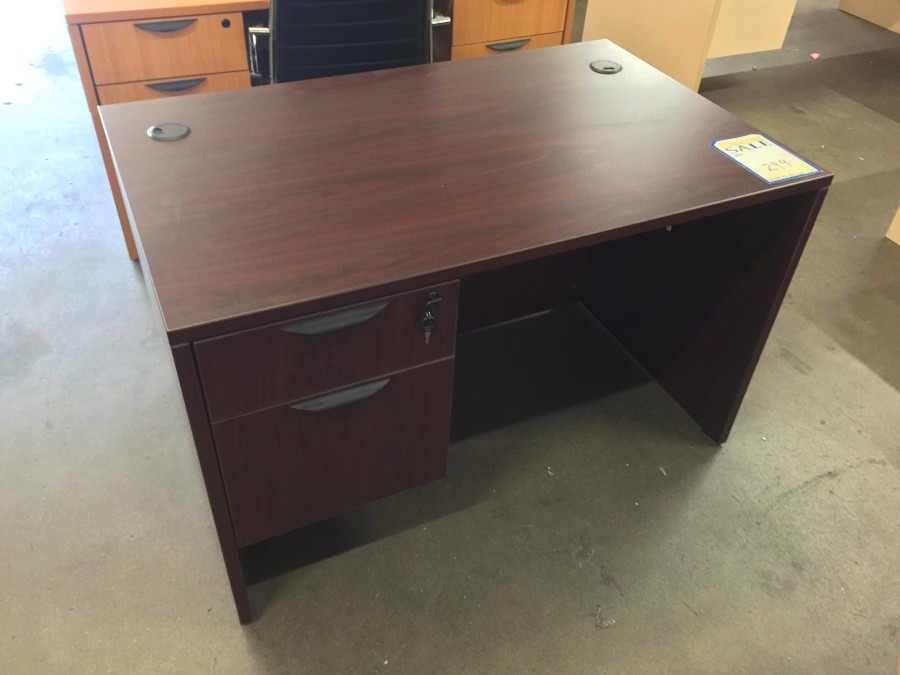 new laminate 4 u2032 single pedestal desk by offices to go  u2013 new and used office furniture in los