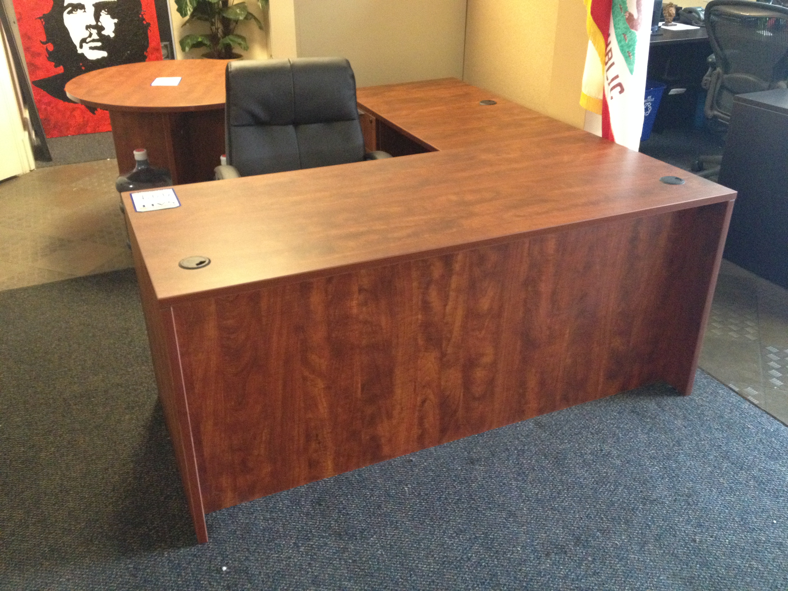 new laminate single pedestal l shape desk by offices to go new and used office furniture in. Black Bedroom Furniture Sets. Home Design Ideas