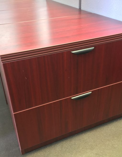 2 Drawer Dark Cherry Lateral File Cabinet